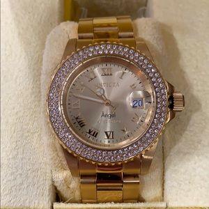 Invicta Angel gold watch